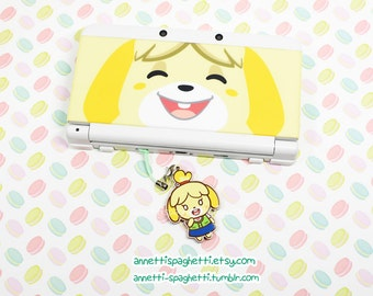 Animal Crossing- Isabelle/Brewster Wood Phone/3DS Charm - ACNL Video Game Phone/3DS Accessory