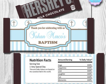 Baptism Candy Bar Wrapper, Christening Candy Bar Wrapper, Baby Shower Candy Bar Wrapper, Hershey Bar Wrappers PRINTABLE