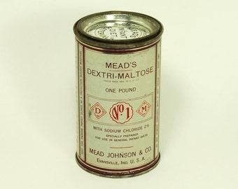 Mead Johnson Dextri-Maltose Tin Can