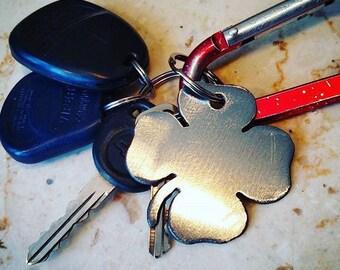 St. Patrick's Day Four Leaf Clover Keychain