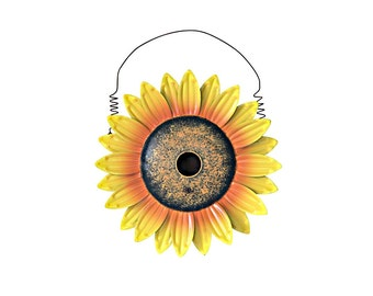 Gift Rustic Sunflower Birdhouse
