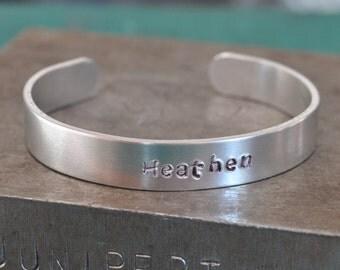 Heathen Stamped Cuff Bracelet