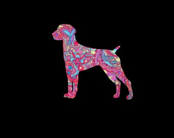 German Shorthaired Pointer patterned vinyl decal in many prints and sizes!