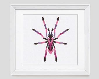 Cross Stitch Pattern, modern cross stitch pattern, spider counted cross stitch, spider cross stitch pdf pattern