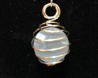 White Swirl Marble Pendant