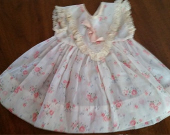 Doll Clothes Rosebud Dress For Dolls Larger than 15 Inches
