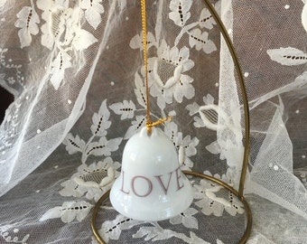 "Charming Bell with Clapper Bell Ornament - ""LOVE"""