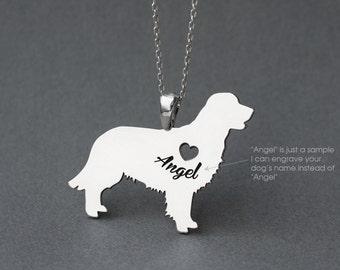 GOLDEN RETRIEVER NAME Necklace - Golden Retriever Name Necklace - Personalised Necklace - Dog breed Jewelry Necklace - Dog Necklaces