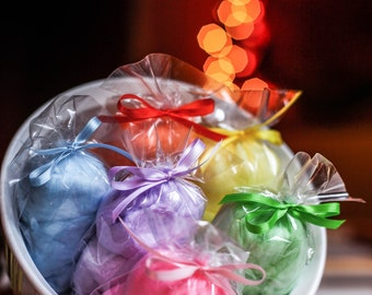 60 Rainbow Cotton Candy Party Favors