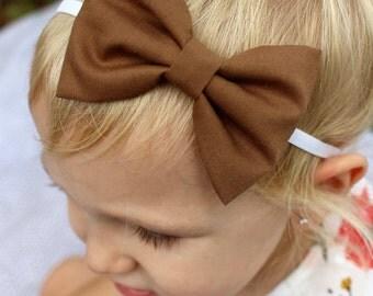 dark honey bow headband
