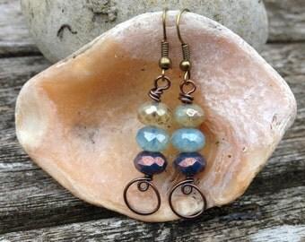 Triple Rondelle Loop earrings