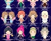 Zodiac clipart, cute zodiac clipart, zodiac sign clipart, calendar clipart, birthday clipart, mystic clipart, horoscope clipart -LN0106-