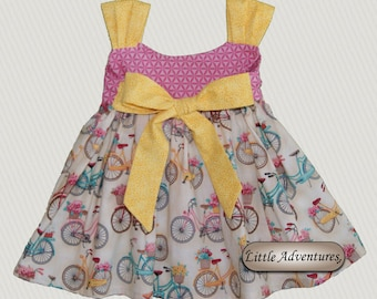 Baby/Toddler/Girls Pink Bicycle Dress