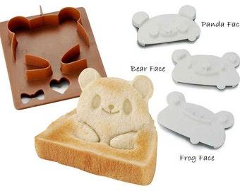 Panda Bear Frog Sandwich cutter 3D Sandwich mold Japanese Bento accessories Bread Shaper Pan De Pop up