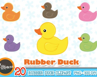 "SALE Rubber Duck Clipart : ""RUBBER DUCK Clipart"" - Rubber Duck Clipart, Rubber Duck Digital, Rubber Duck Clipart - Personal Commercial Use"