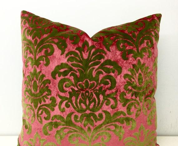 Green Velvet Pillow Covers Velvet Pillows Throw by artdecopillow