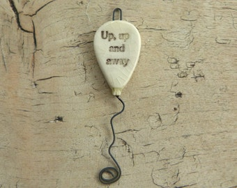 Balloon pendant 'up, up and away'