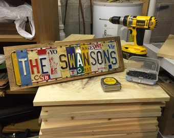 11 Characters Custom License Plate Sign