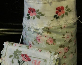 linen bag and poschette and cotoneper toilet and not only ... 2 pieces