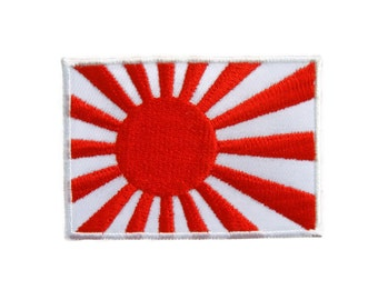 Japanese Japan Flag - Rising Sun Flag Embroidered Applique Iron on Patch