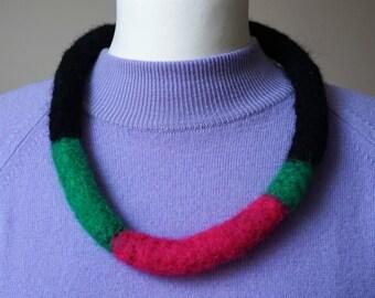 Contemporary felt neck-piece