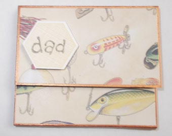 Happy Father's Day Gone Fishing post it note pad