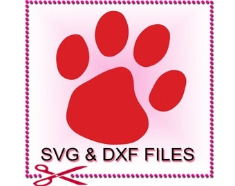 Paw Print SVG Files for Cutting Dog Cricut Animal Designs - SVG Files for Silhouette - Instant Download