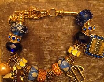 Sigma Gamma Rho custom charm bracelet