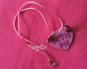 Cutie Pie Heart Charm Necklace