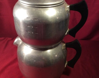 West Bend kwik drip coffee maker Vintage Large with mini one