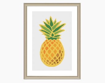 PINEAPPLE - cross stitch pattern, modern cross stitch, instant download cross stitch chart PDF