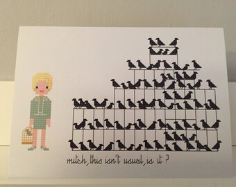 The Birds blank greeting card