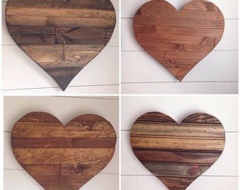 Rustic 12 inch wide heart sign