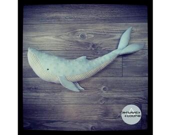 Plush whale humpback whale humpback, Doggie, blue, striped, sweet