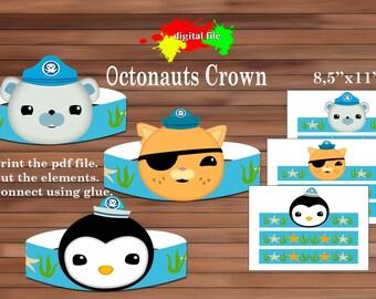 Octonauts paper Crown, Paper Crown, PDF, Instant Download