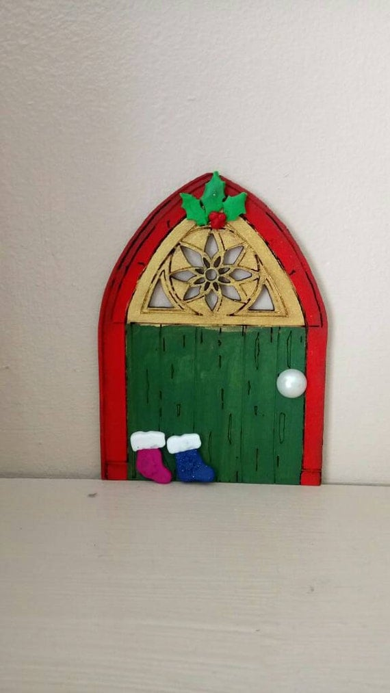 Items similar to santa 39 s magic door whimsical whimsy for M m door decorations