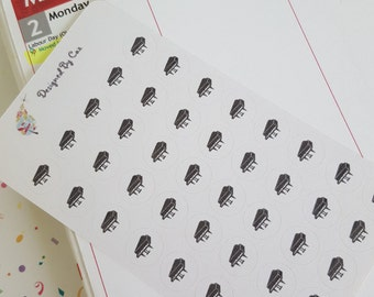 NEW Planner & Diary Stickers - Piano Lessons