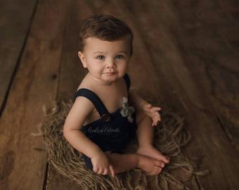 Baby Boy Romper, blue baby shorts, Newborn Outfit, Vintage Baby Romper, Baby Boy Shorts, Baby overalls, Baby Suspenders, Blue Shorties