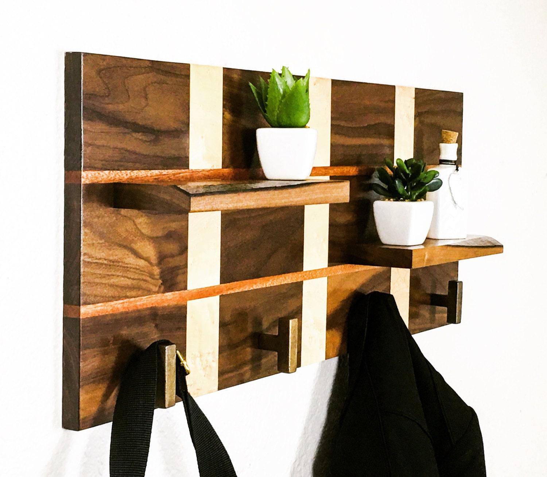 Handcrafted Wood Coat Rack Modern Coat Rack Coat Rack Stand