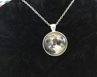 Full Moon Silver Necklace