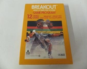 Breakout Atari Original Atari 2600 Vintage Video Game and Box
