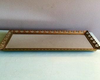 Long narrow mirror etsy for Long slim mirror