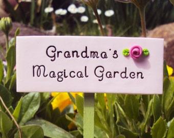 Fairy Garden Sign Grandma's Magical Fairy Garden, Miniature Sign, Terrarium, Miniature Garden, Faeries