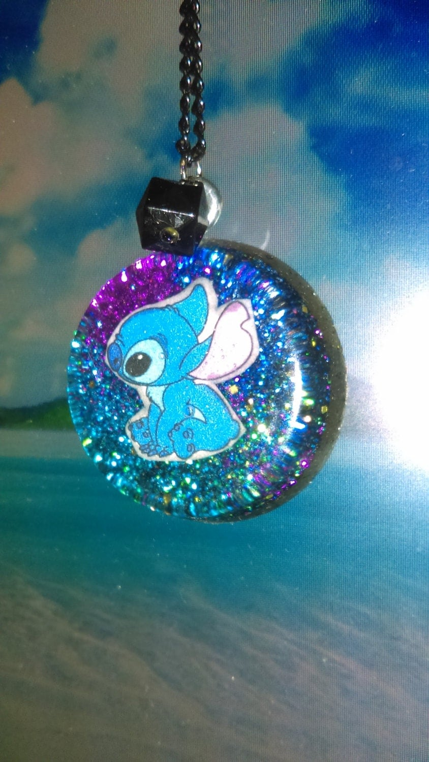 Lilo and Stitch Resin necklace
