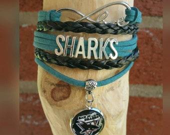 San Jose Sharks infinity love Bracelet (your choice of image)