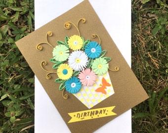 Birthday Flower Basket Card