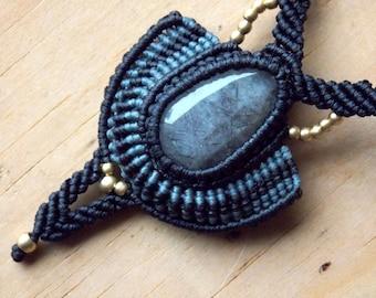 Tourmilated Quartz Macrame Necklace