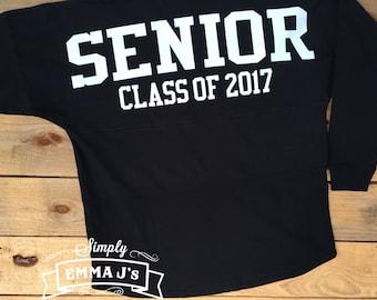 Custom spirit jersey, senior shirt, monogram shirt, spirit jersey, school spirit shirt, long sleeve shirt