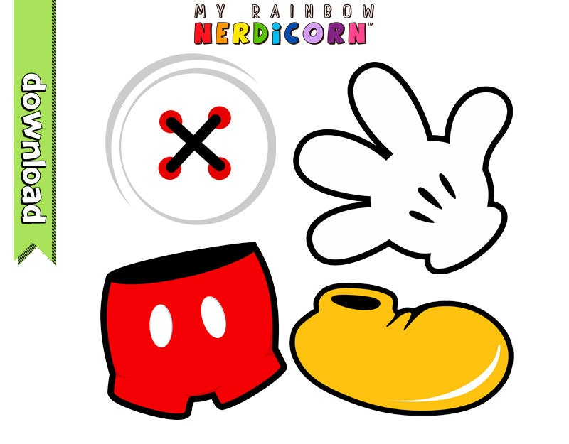 Mickey Mouse Clothing Clipart Mickey Glove by MyRainbowNerdicorn