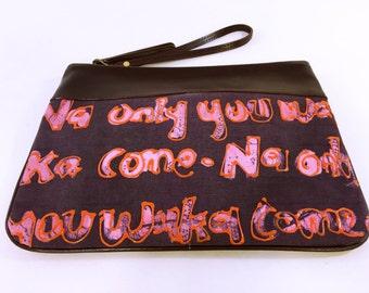 3D wristlet clutch purse